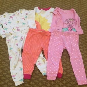 3 sets of 2T/24 month pajamas